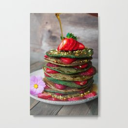 pancakes #society6 #decor #buyart Metal Print