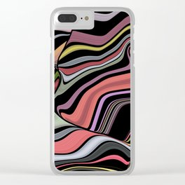 ROMA - bright bold abstract colours with black Clear iPhone Case