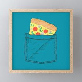 Emergency supply - pocket pizza Framed Mini Art Print