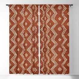 Village in Rust Blackout Curtain