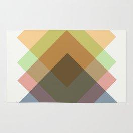 Mid Century Oblique Geometric Squares Rug