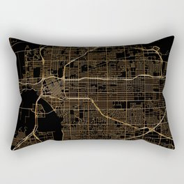 Tulsa map, Oklahoma Rectangular Pillow