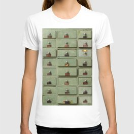 Old wooden cabinet with drawers T-shirt