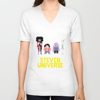 steven universe V-neck T-shirts featuring Steven Universe by NeleVdM