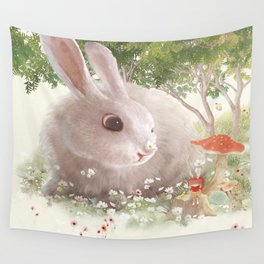 Flowers are Small Universe Wall Tapestry