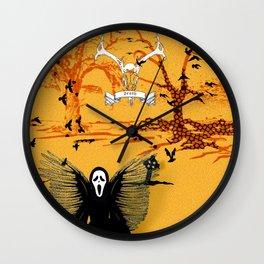 Skull Mask Scene Wall Clock