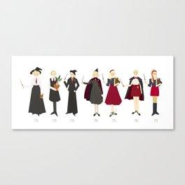 Red Uniforms 1910-1970 Canvas Print