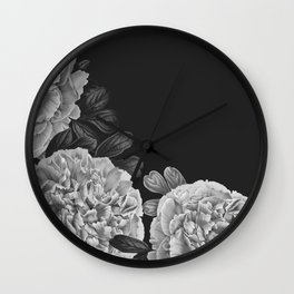 Flowers in the night Wall Clock