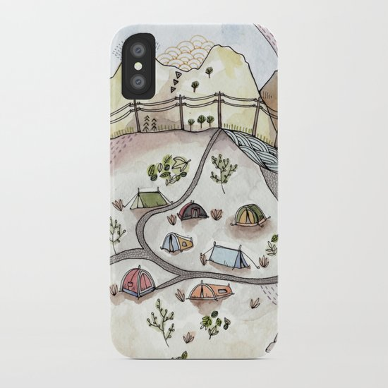 Desert Camp iPhone Case