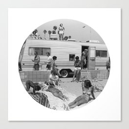 Vintage Caravan Party Canvas Print