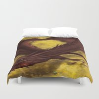 smaug Duvet Covers featuring Smaug by toibi