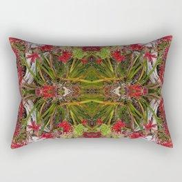 Queen Mardi Gras of the Garden (Mandala-esque #187aa) Rectangular Pillow