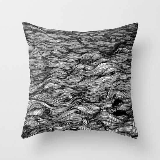 Where the Oceans End Throw Pillow