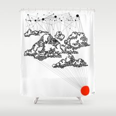 the Clouds Shower Curtain