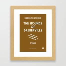 BBC Sherlock The Hounds of Baskerville Minimalist Poster Framed Art Print