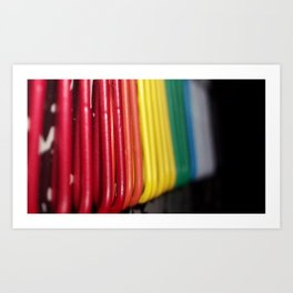 Clips of color Art Print