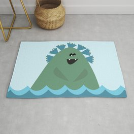Ridley C. Monsta Cute Sea Monster Rug