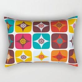 Retro squre brown tiles Rectangular Pillow