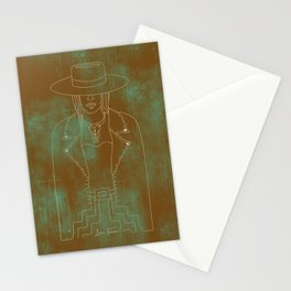 Lady Outlaw Rust & Distressed Turquoise Stationery Cards