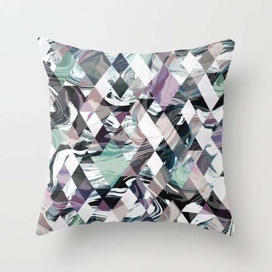 Diamond Rock Throw Pillow