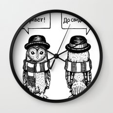 Hello Goodbye Wall Clock
