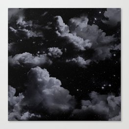 Night Sky with Clouds Canvas Print