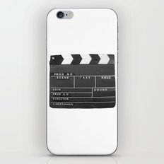 Film Movie Video production Clapper board iPhone Skin