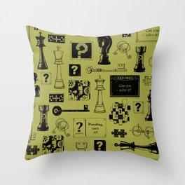 Brain Teaser pattern Throw Pillow