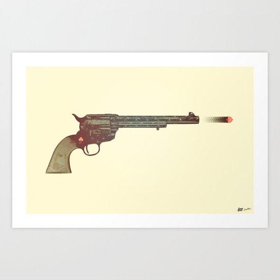 Six Shooter Art Print