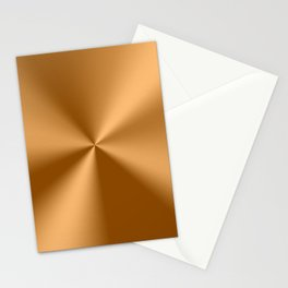 Copper Tones Stainless Steel Print Stationery Cards