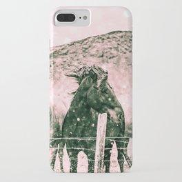 Southwest Horses Black and White iPhone Case