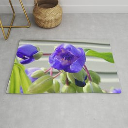 Spiderwort Flower Rug