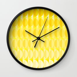 pattern leaves in the sunlight Wall Clock