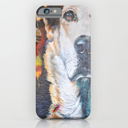 Few flowers as a tribute to the Loukanikos dog from Elisavet iPhone Case