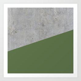 Concrete and Kale Color Art Print