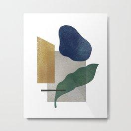 Abstract organic forms Metal Print