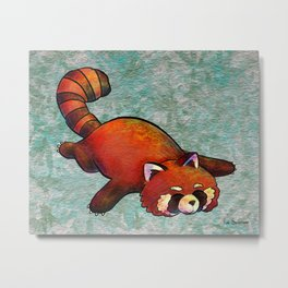 Sleeping Red Panda Metal Print