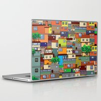 rio de janeiro Laptop & iPad Skins featuring Favela, Rio de Janeiro by Rceeh