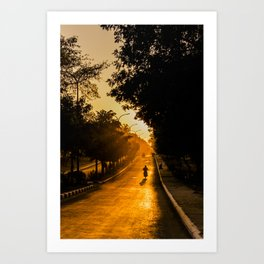 Golden Sunset Bagan   Myanmar, Asia Golden sunrise Fine art   Color - pink - travel - photography - Art print Art Print