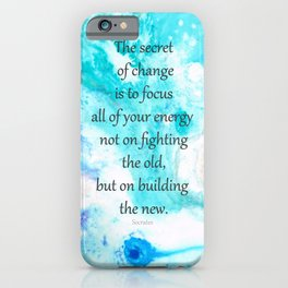 The Secret To Life - Motivational Art and Quotes - Sharon Cummings iPhone Case
