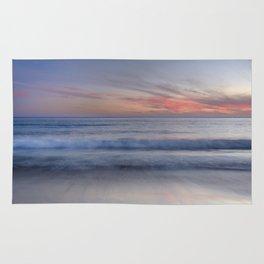 """Magical waves at sunset"" Rug"