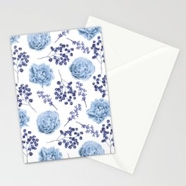 Sky Blue Roses Stationery Cards