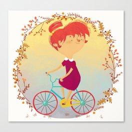 The Girl on the Bike, Canvas Print