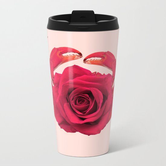 ROSE CRAB Metal Travel Mug