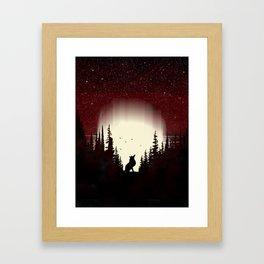Red Forest Fox Framed Art Print