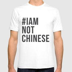 #IAMNOTCHINESE Mens Fitted Tee LARGE White