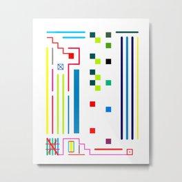 Combination Plate Metal Print