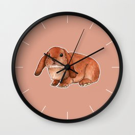 Red rabbit ram Wall Clock