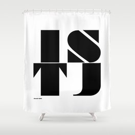 Type Type for ISTJ Shower Curtain