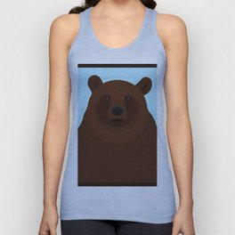 Brown bear Unisex Tank Top